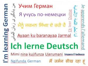 Wordcloud lerne deutsch